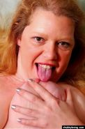 Fat mature redhead getting nasty and spreading her big pussy #71732396