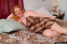 Fat mature redhead getting nasty and spreading her big pussy #71732427