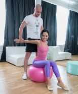Tiny Flexible Nympho Drilled By A Hung Dude In A Gym