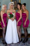 Cherry Torn gets hijacked by her bridesmaids bound, ripped from her wedding dres