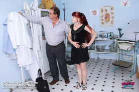 Mature russian redhead pussy speculum examination at gyno clinic
