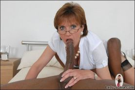 Lady Sonia try huge black dick in interracial sex action