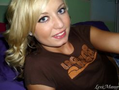 Slim blonde teen with tiny tits selfshots