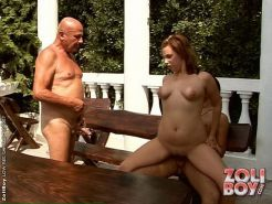 Slut fucking two guys and getting pissed on