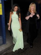 Michelle Keegan looking hot in a gorgeous white maxi dress at National Televisio