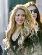 Shakira bra peek at the NBCs The Voice event in Hollywood