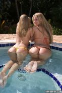 Phoenix Marie and Brianna Love in outdoors jungle fuck