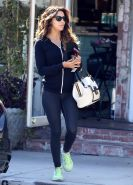Eva Longoria showing cameltoe and ass in tight sweatpants outside the Ken Paves