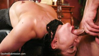 Lea Lexis is bound, gagged and fucked hard in her ass in this story of Risk and