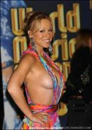 Awesome celebrity superstar Mariah Carey naked nipple