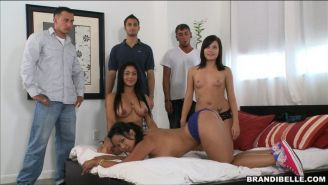 Brandi Belle invites friends to a private orgy