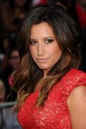 Ashley Tisdale looks very sexy wearing little red lace dress at the 'Pirates Of