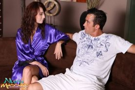 Amber Rayne giving a slippery asian body massage