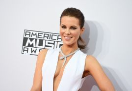 Kate Beckinsale showing huge cleavage at the 2014 American Music Awards in LA