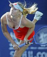 Maria Sharapova nipple slips and downblouse on court paparazzi pictures