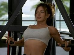 Krista Allen working out in some sexy outfit in some movie caps