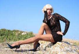 Milf Lily Wow flaunts body in high heels and stockings