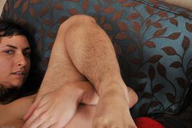 Hairy pussy amateur Monica spreading snatch #76524950