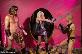 Lorelei Lee and femdom friends in kinky adventure with male submissives
