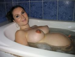 Pregnant girls showing their naked tits and swollen pussies #71427846