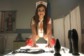 Fetish latex nurses in all anal and enema kink