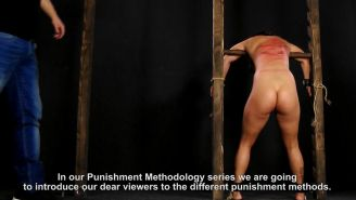 Punishment methology movie from Elitepain using canes and whip