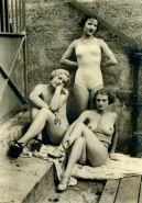 Retro flappers girls with ideally shaped bodies nastily posing