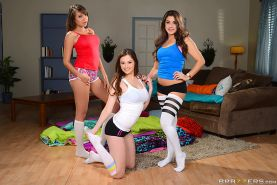 Cassidy Banks and Elektra Rose enjoy a hot slumber party with Natalie Monroe