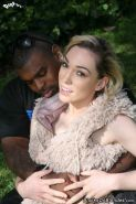 Blonde Lily Labeau in interracial anal sex fucking