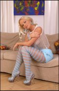 Silvia Saint removing her her favorite pantyhose