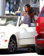 Leilani Dowding braless in see through tank top  hotpants