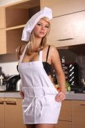 Ashlynn Brooke naughty chef gets naked in the kitchen
