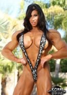 Muscle Pornstar Angela Salvagno shows off her strong body