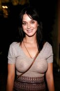 Katy Perry exposing sexy body and huge boobs in see thru blouse