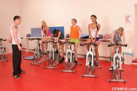 Cfnm orgy in a gymn with teens and their coach