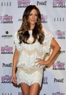 Kate Beckinsale leggy wearing white lace mini dress at the Film Independent Spir