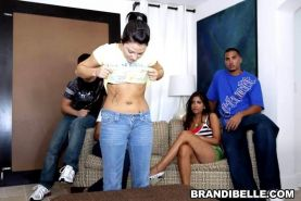 Brandi Belle meets swinger couples and joins in