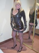Fetish wife in stockings and latex