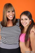 Busty mom Ava Devine teaching her teen daughter Jynx Maze how to please a dick