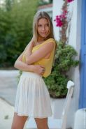 Krystal Boyd in a summer dress