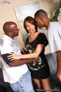 hot Dana DeArmond gets double penetrated by big cocked blacks