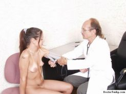 Beauty has visited her doctor for her gyno exam
