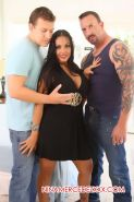 Nina Mercedez does her first double penetration scene exclusively for her websit