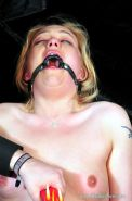 Crying blonde painslave Donnas burning candle punishment and extreme gagged puss