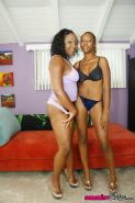 Two lesbian ebonies tasting each others wet pussy