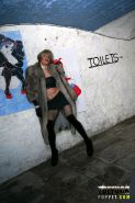 Horny tranny craving a blowjob in public toilets