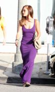 Minka Kelly busty shows pokies leaving Byron  Tracy salon in LA