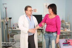 Mature old pussy Verka gaping and clinic examination