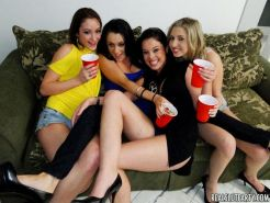 Drunk chicks in hot panties hardcore gangbang sex party