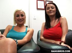 Lexi Swallow and Sophie Dee sharing a big dick